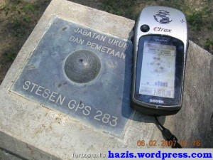 salah sebuah setesen gps  di malaysia [station  gps 283]