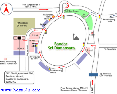Sri Damansara Map