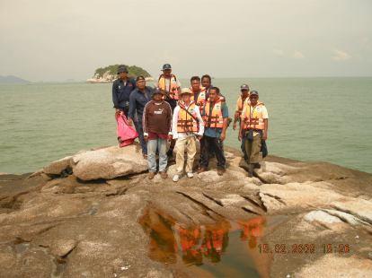 Krew En Rosli /Andrew di Pulau Payung,Lumut Perak.