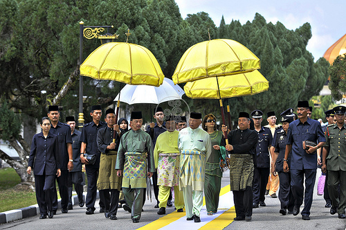 perkahwinan cucu sultan pahang_Berangkat ke upacara