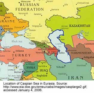 peta tasek kaspia terletak di azirbaijan