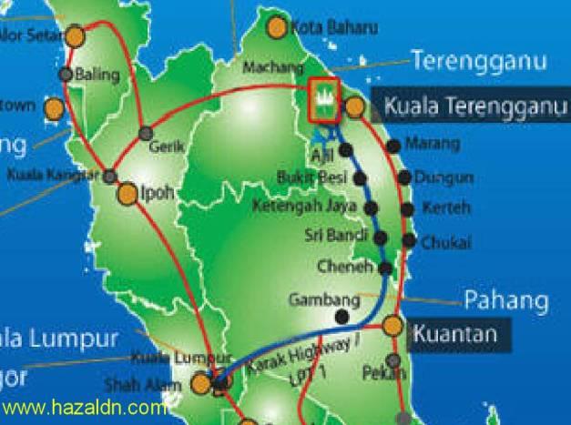 map of tasek kenyir