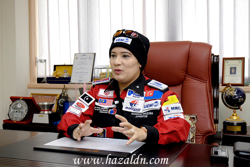 syarifah mazlina_syed abdul kadir-wanita pertama malaysia ke kutub utara
