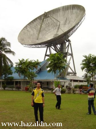 satelite bumi di Lendu Melaka