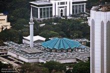 Masjid Negara dari KL Tower