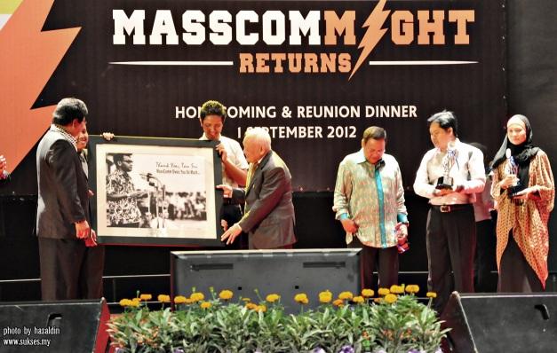 majlis makan malam .40  tahun mascom  UiTM Shah Alam