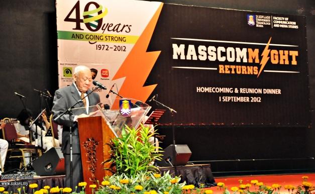 Arshad Ayub _majlis makan malam .40  tahun mascom  UiTM Shah Alam