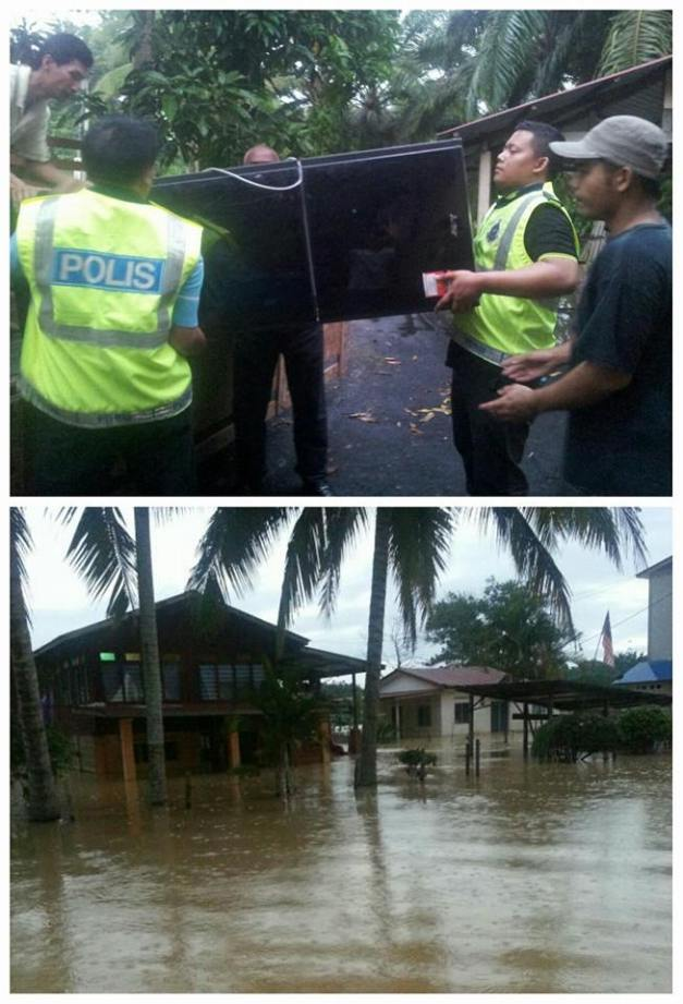 di kg Kuala Triang, Bera