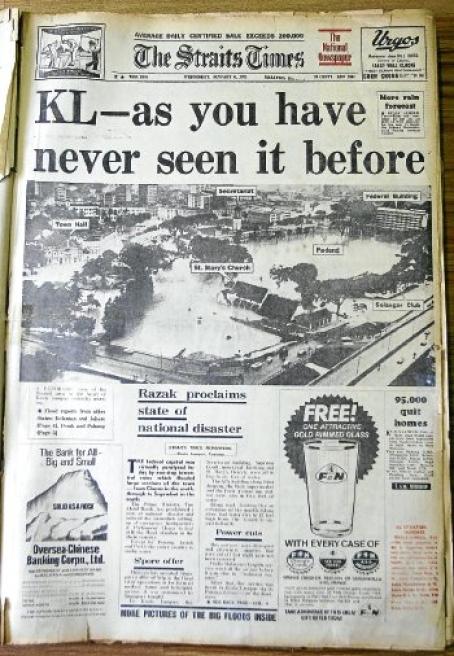 23. 1971 – Keratan akhbar The Straits Times bertarikh 6 Jan 1971