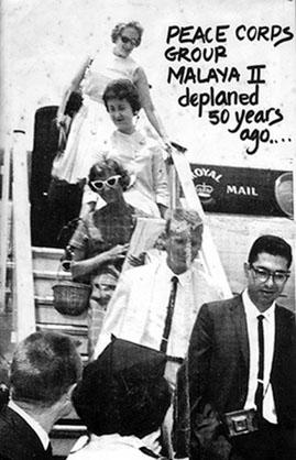 8. 1950 – Peace Corp mendarat di Lapangan Terbang Sungai Besi